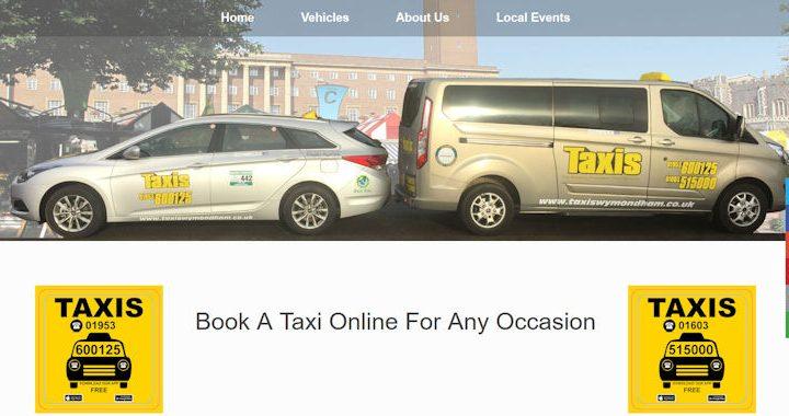 Taxis Website Screenshot