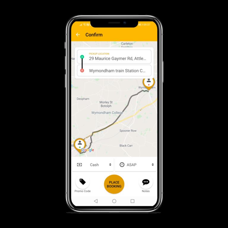 book taxi app